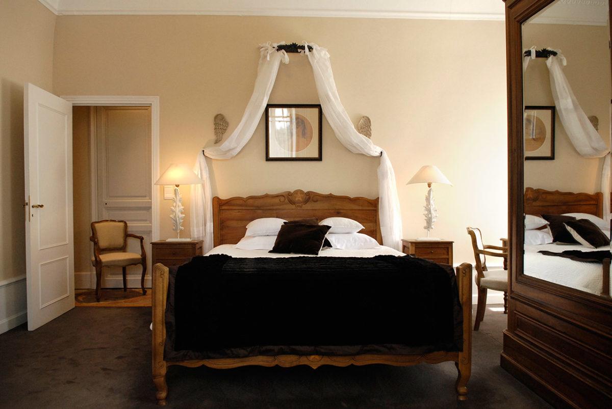 Chambre Constance - château hôtel luxe Ardèche