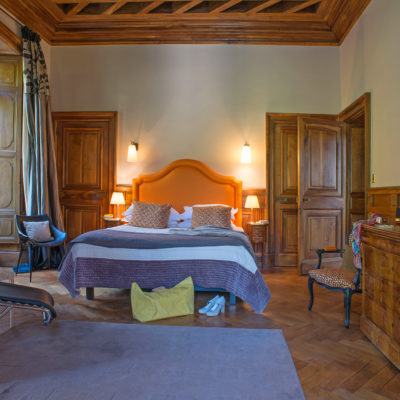 Suite Marie-Antoinette - château hôtel luxe Ardèche